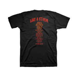 Like A Storm - Devil Tour Black T-shirt