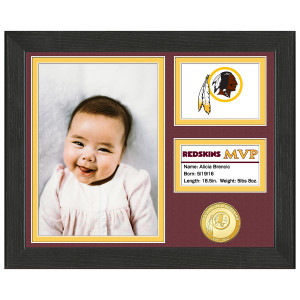 Washington Redskins Baby MVP Personalized Photo Frame