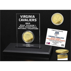 University of Virginia 2019 NCAA Men's Basketball Champions Bronze Coin Etched Acrylic