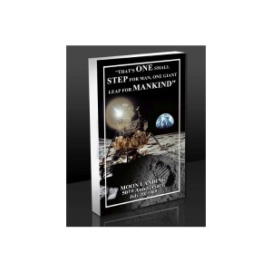 Apollo Moon Landing Quote 3D Acrylic BlocKart