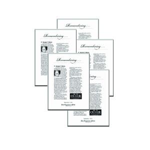Family Pack of 5 Obituary Keepsakes