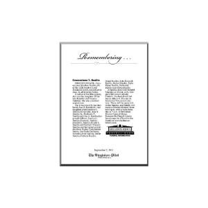 Obituary Keepsake