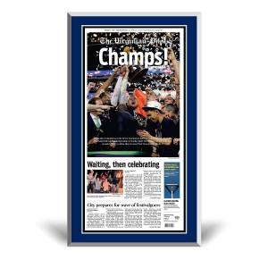 Virginia Cavaliers 2019 NCAA Championship Front Page Plaque