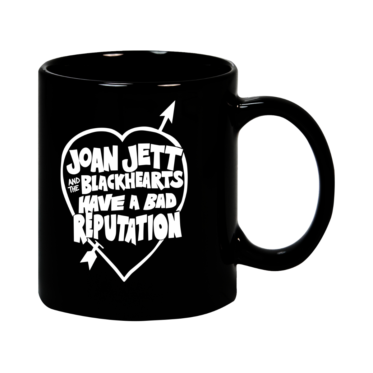 Bad Rep Heart Black Mug