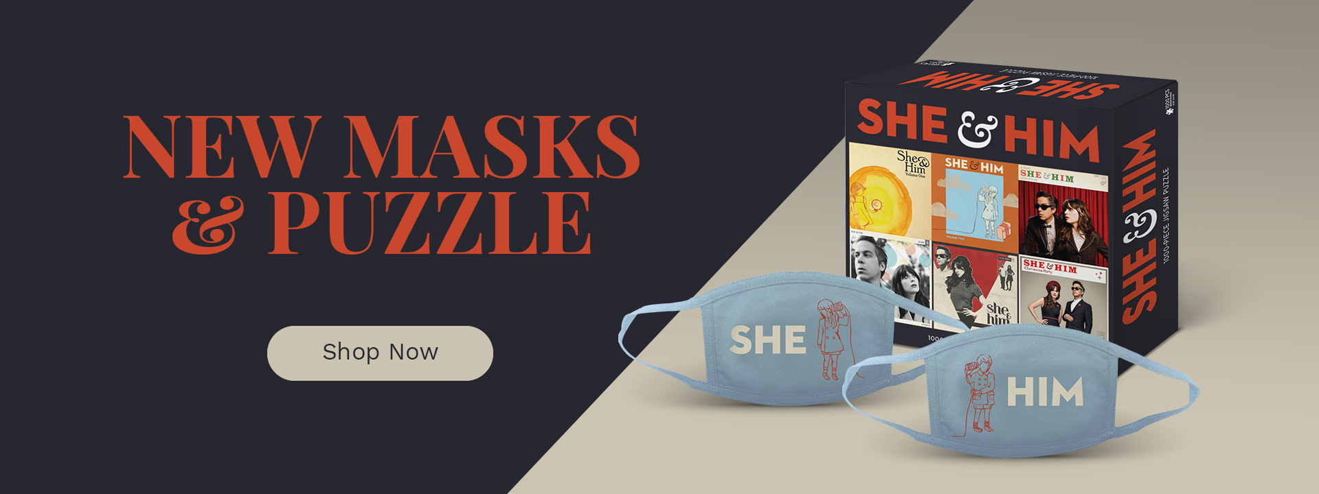 New masks and puzzle | Shop now