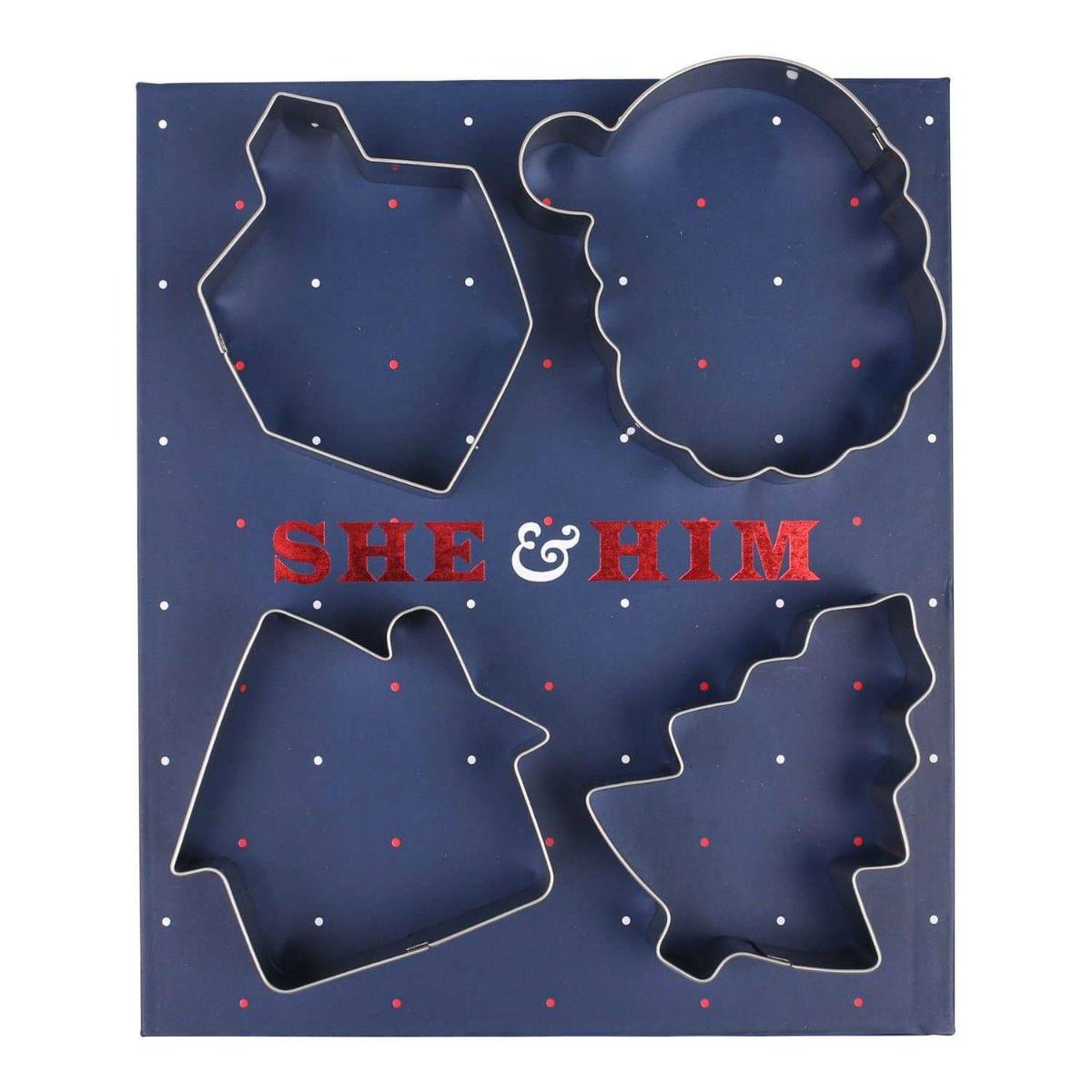 She & Him 4-Piece Cookie Cutter Set