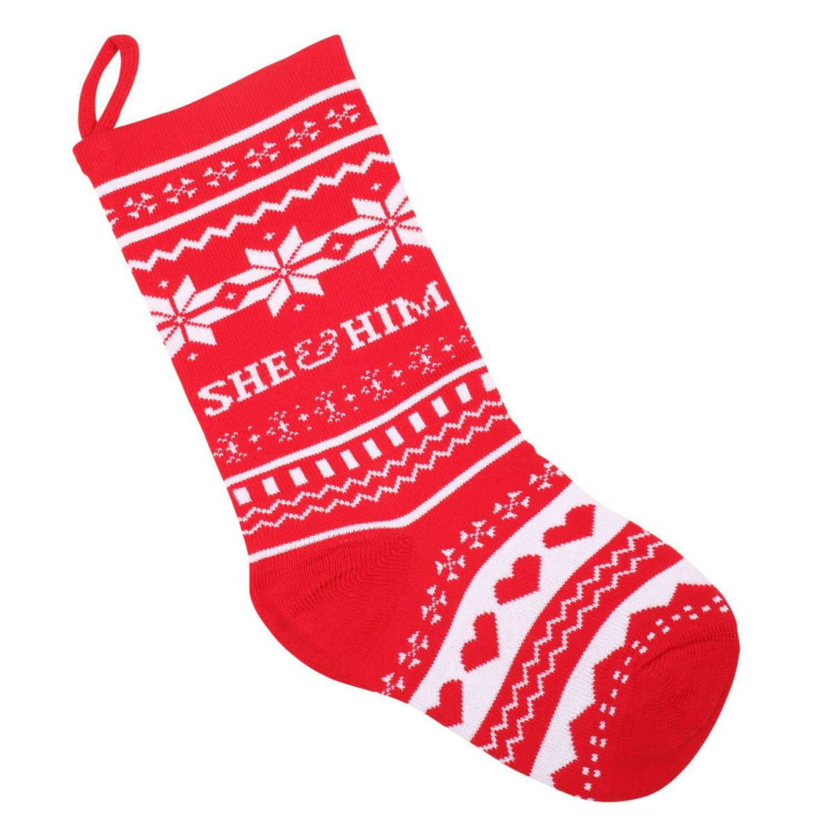 She & Him Knit Christmas Stocking