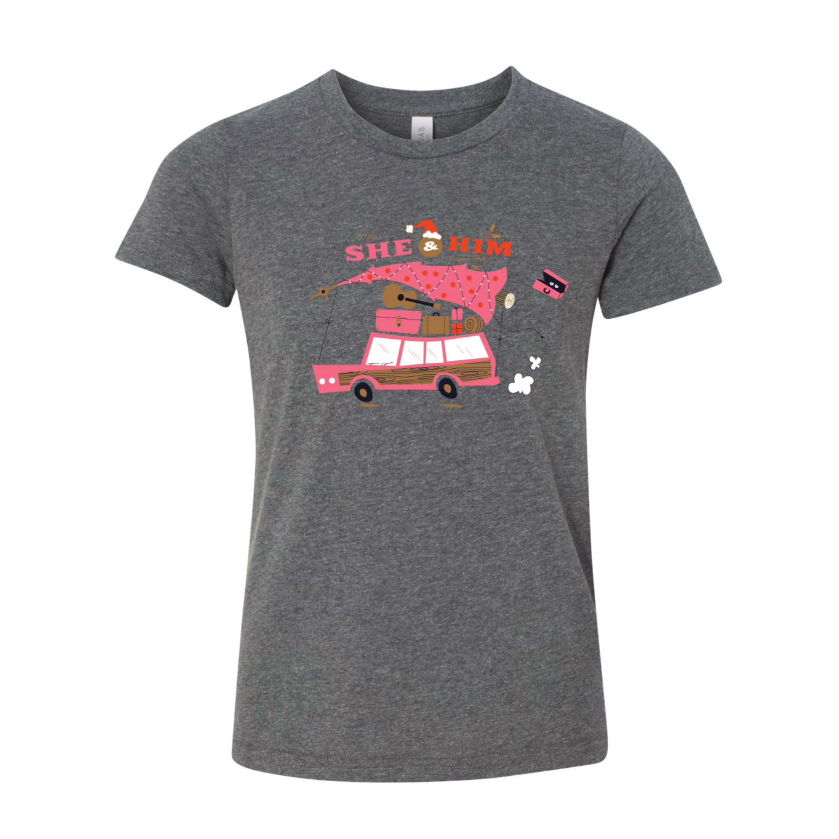 She & Him Holiday Wagon Tee