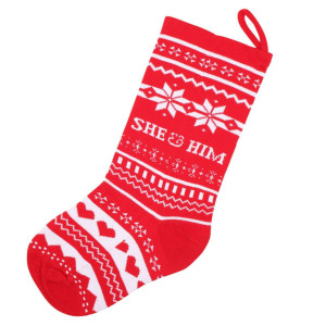She & Him Knit Christmas Stocking