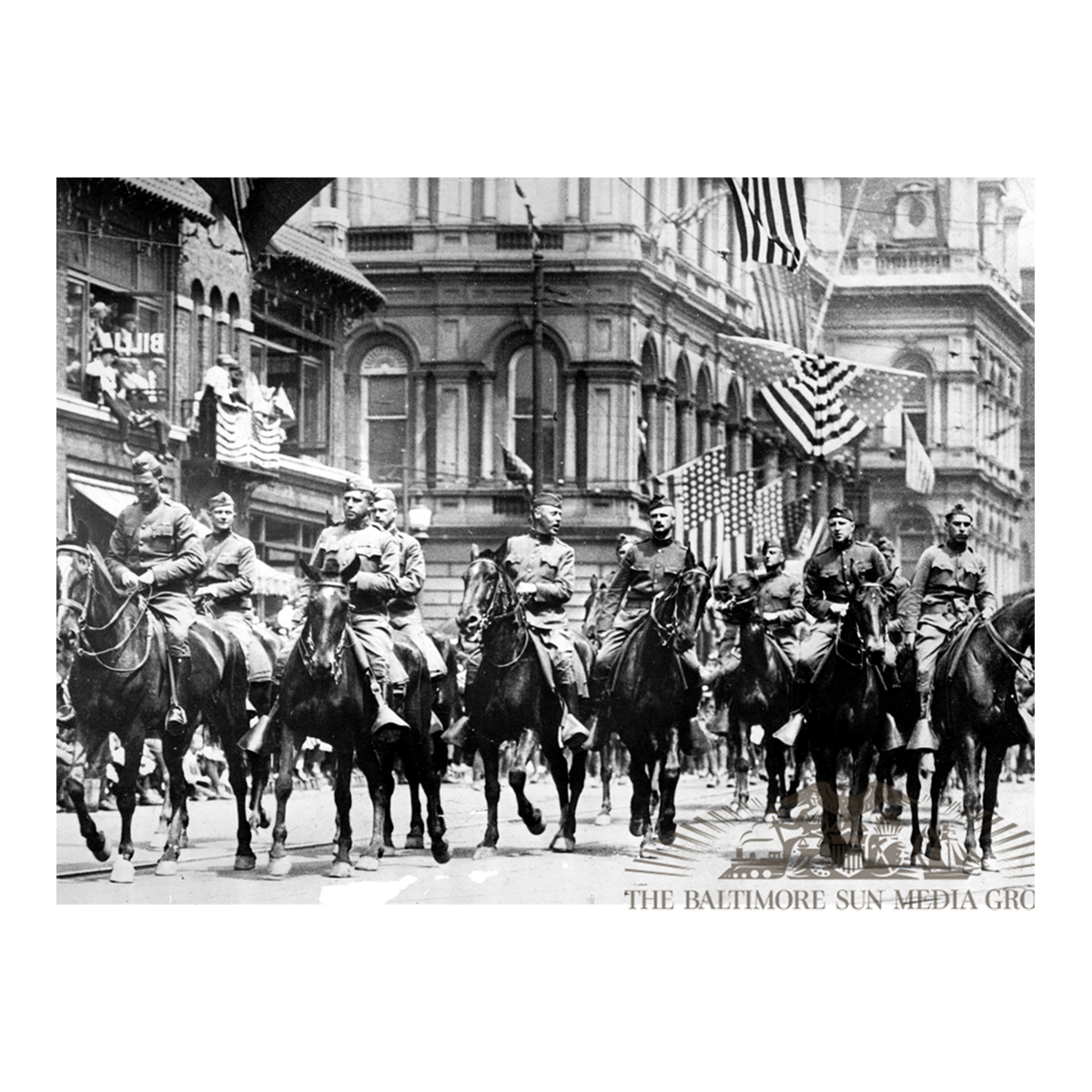 115th Infantry at City Hall (1919)