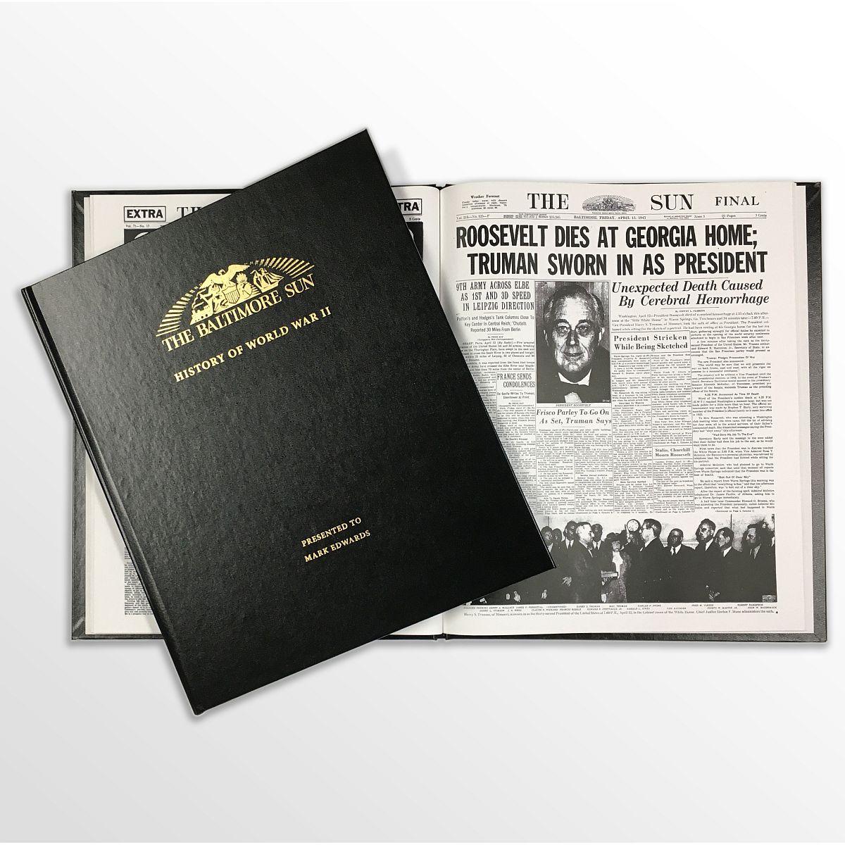 History of World War II Newspaper Book