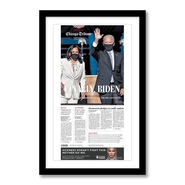 """""""Finally, Biden"""" 11/8/20 Page Print"""