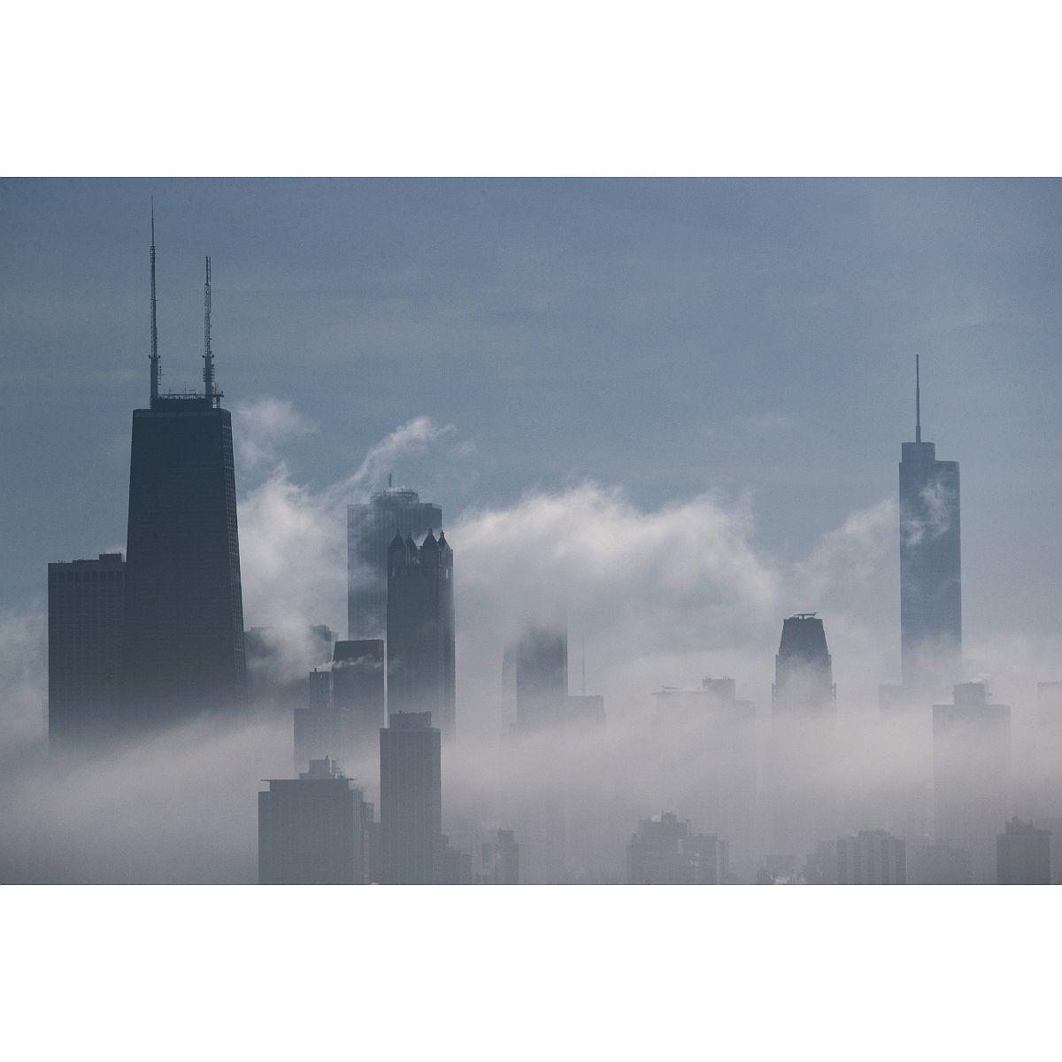 Chicago Skyline from Montrose Harbor