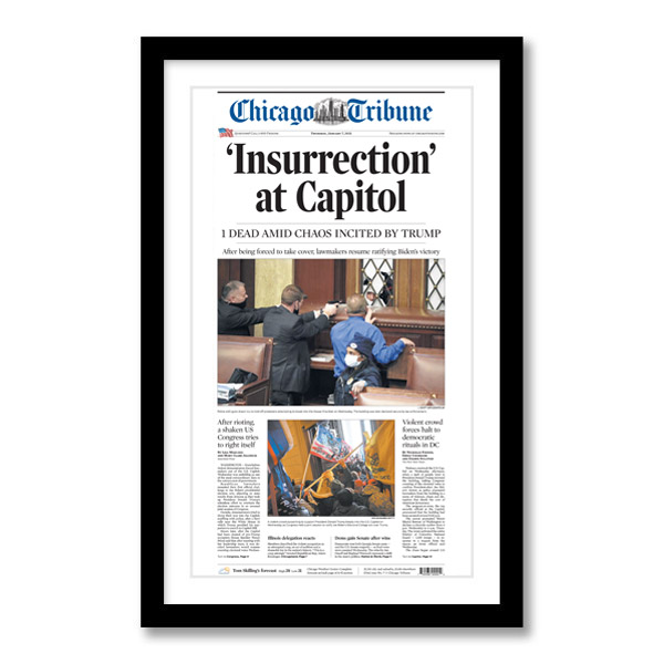 """""""Insurrection' at Capitol"""" 1/7/2021 Page Print"""