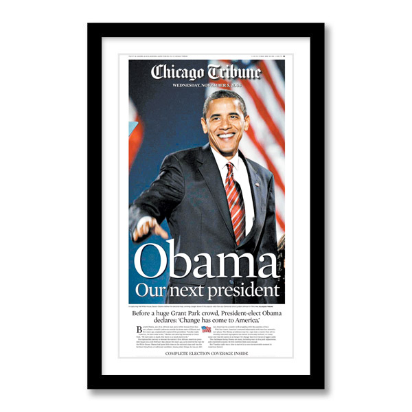 """""""Obama Our Next President"""" 11/5/2008 Page Print"""