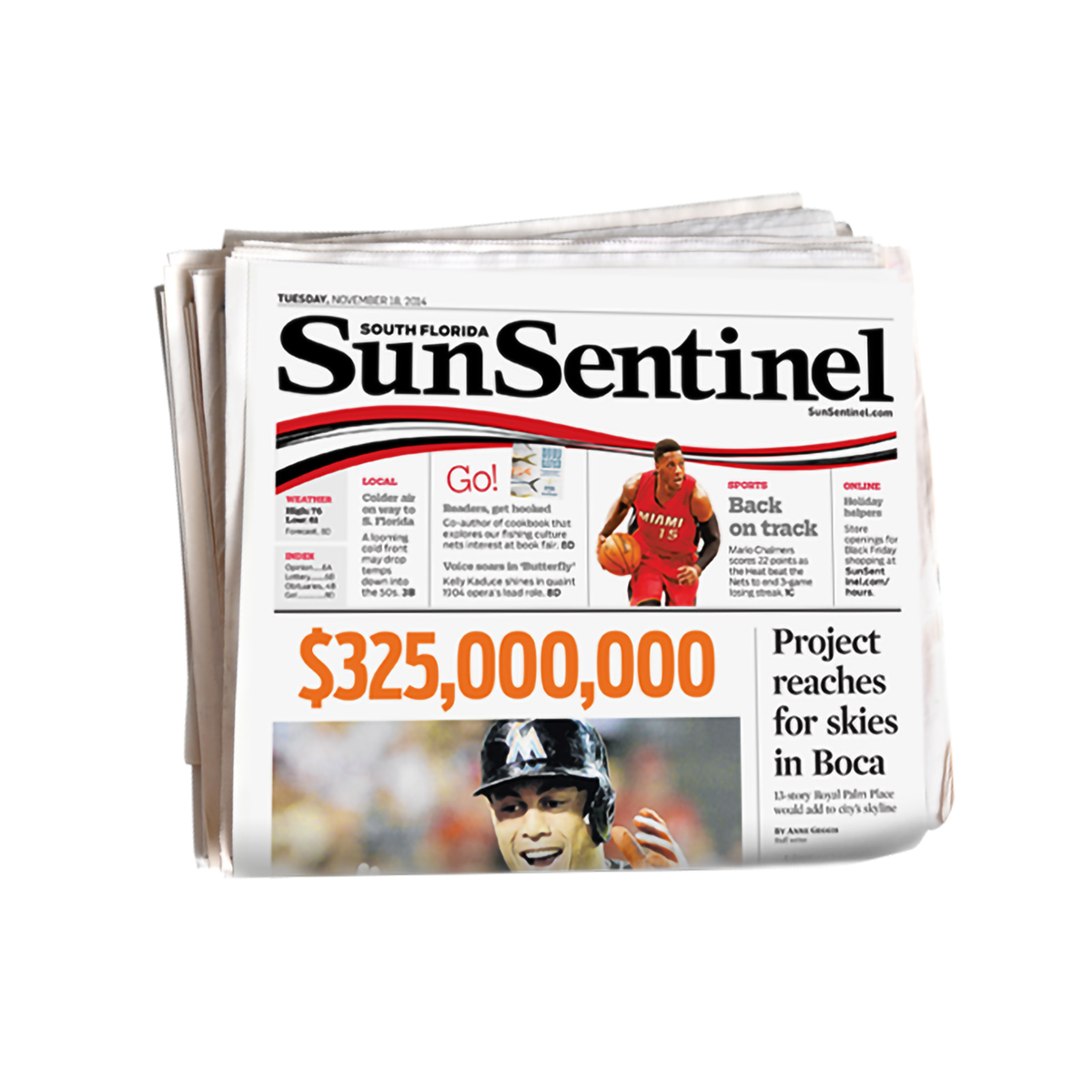 Sun Sentinel Back Issue
