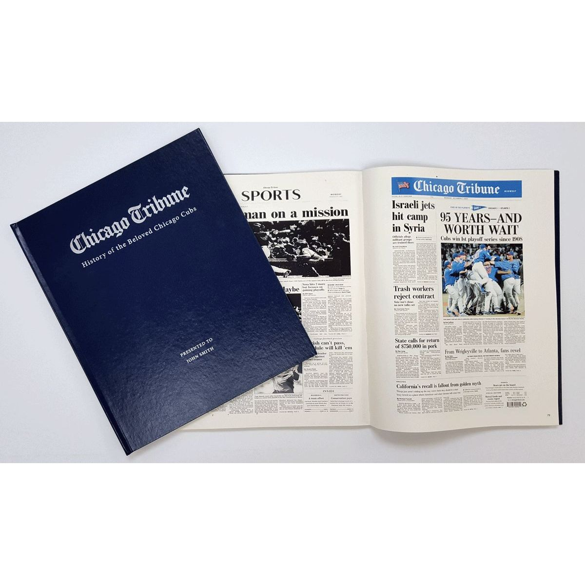 """""""History of the Beloved Chicago Cubs"""" Personalized Newspaper Book"""