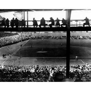 1936 Cubs vs. Pirates at Wrigley Field Photograph