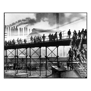 Changing Shift at the South Works Steel Mill (1937)