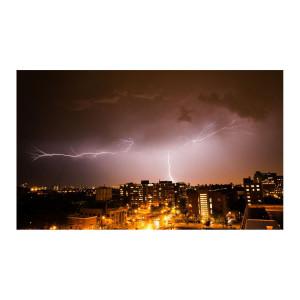 Chicago Lightning Strikes Photograph