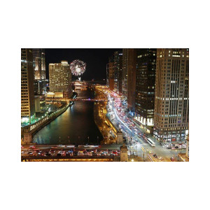 Chicago Scenery: Navy Pier Fireworks from Trump Hotel