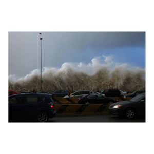 Heavy Waves on Lake Shore Drive Photograph