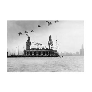 U.S. Army Air Maneuvers Over Navy Pier Photograph (1931)
