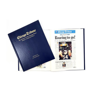 """""""History of the Chicago Bears"""" Personalized Newspaper Book"""