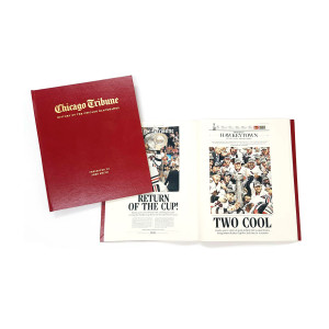 """""""History of the Chicago Blackhawks"""" Personalized Newspaper Book"""