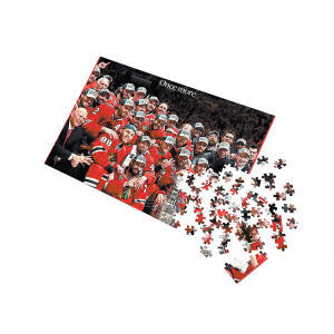 """Chicago Blackhawks 2015 Stanley Cup """"Once More"""" Front Page Jigsaw Puzzle"""