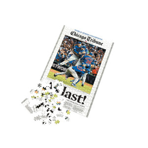 """Chicago Cubs """"At Last"""" 2016 World Series Jigsaw Puzzle"""