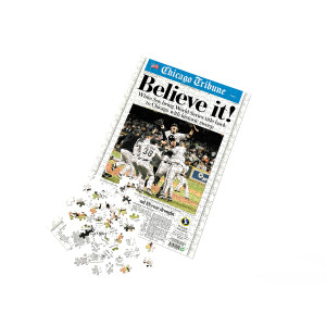"""Chicago White Sox """"Believe It"""" Front Page Jigsaw Puzzle"""