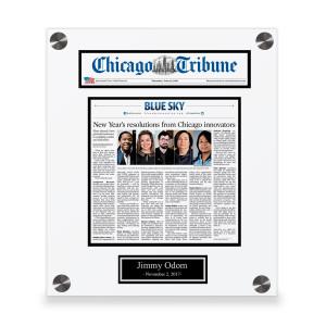 Chicago Tribune Custom Article Print Plaques
