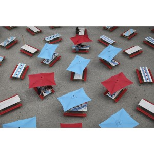 Chicago Flag Picnic Tables