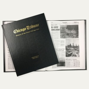 """""""History of the Great Chicago Fire"""" Personalized Newspaper Book"""