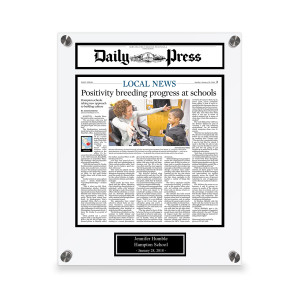 Daily Press Custom Article Print Plaques