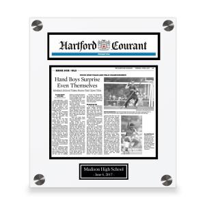 Hartford Courant Custom Article Print Plaques