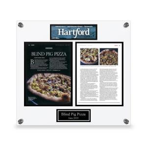 Hartford Magazine Custom Article Plaque
