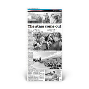"""Daytona 500 2015: """"The Stars Come Out"""" Front Page Reprint"""