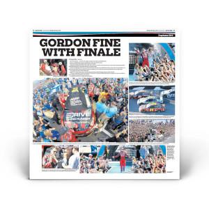 "Daytona 500 2015: ""Gordon Fine with Finale"" Front Page Reprint"