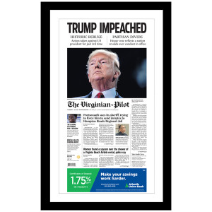 """""""TRUMP IMPEACHED"""" 12/19/2019 Page Print"""