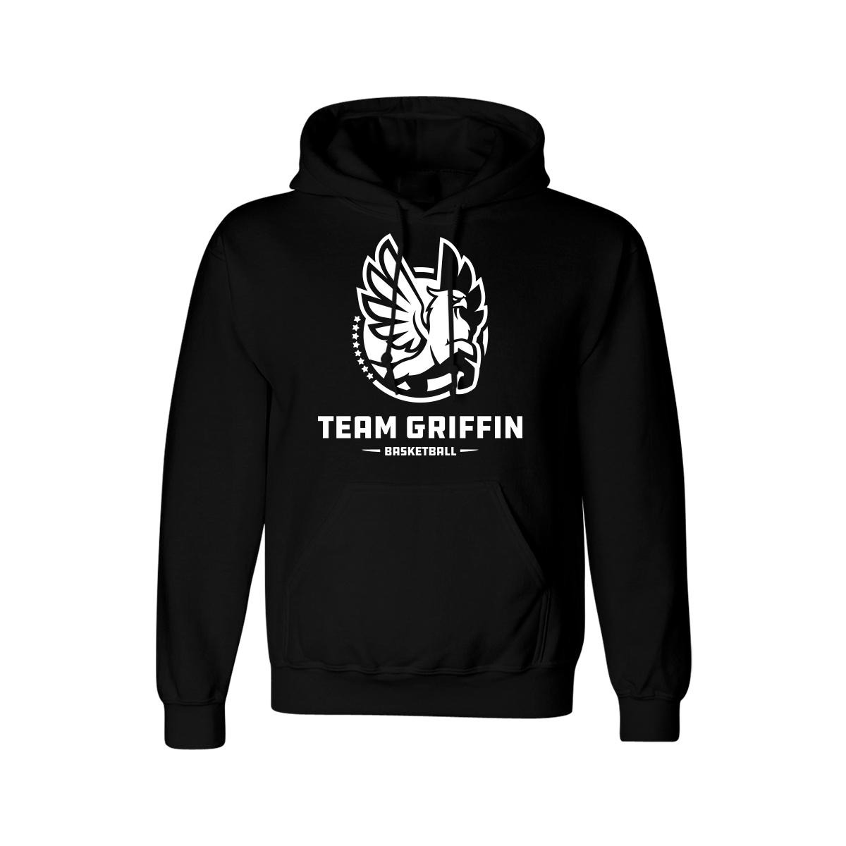 Team Griffin Logo Hoodie (White on Black)