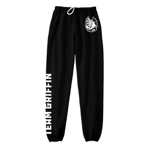Team Griffin Sweats (White on Black)