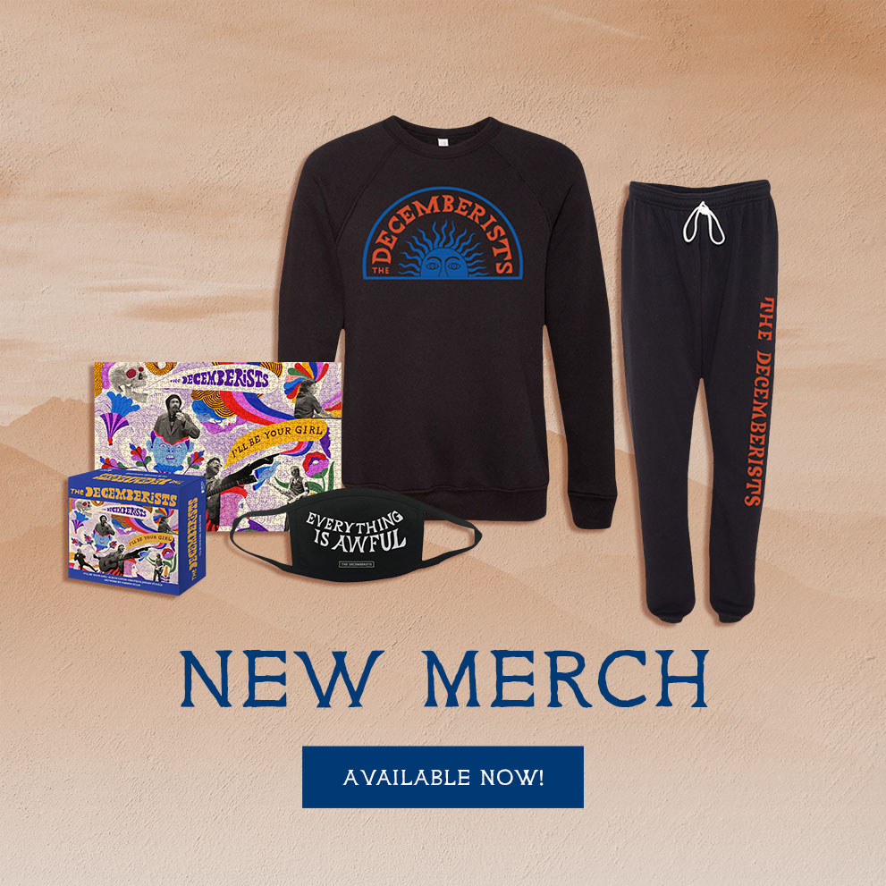 The Decemberists - New Merch & Mask - Shop Now