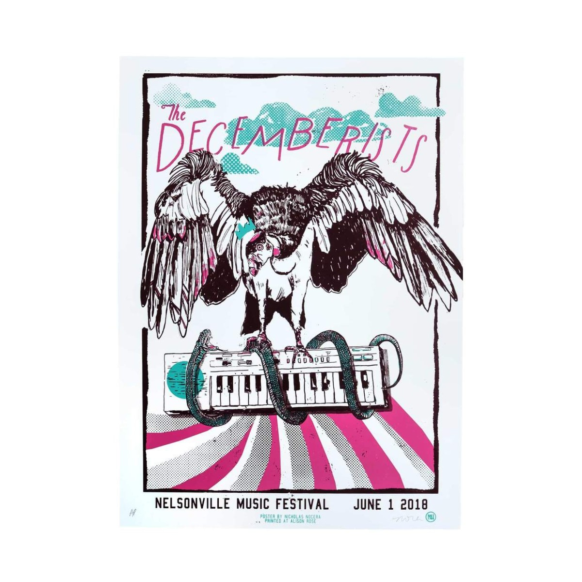 The Decemberists At Nelsonville Music Festival June 1st 2018 Poster