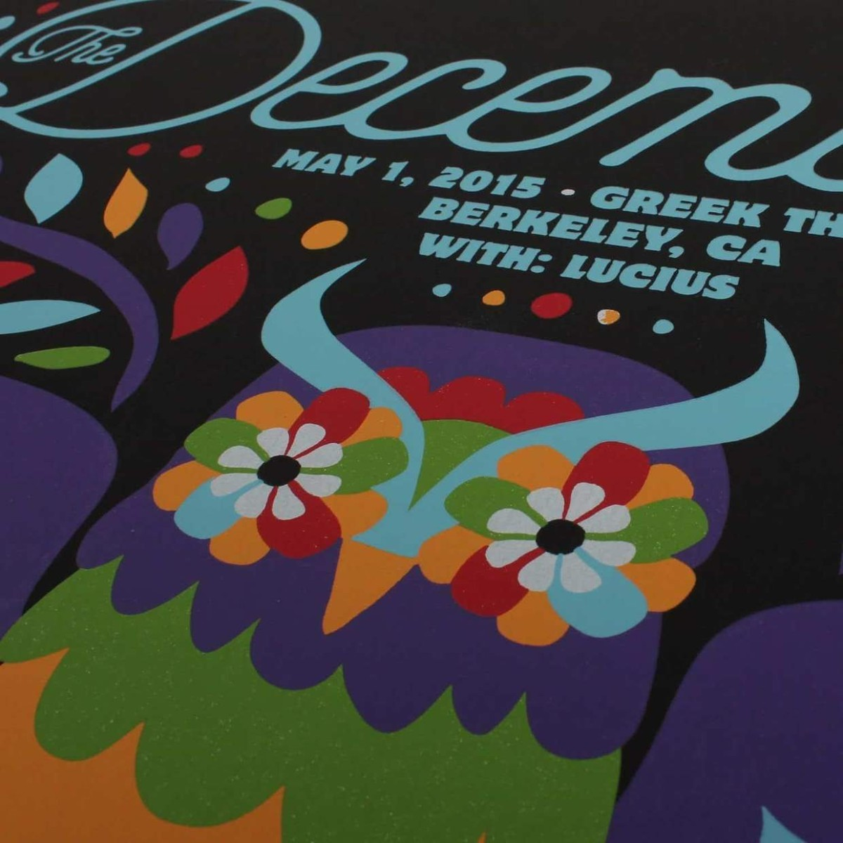 """The Decemberists at The Greek Theatre in Berkley 2015 Poster - 18"""" x 24"""""""