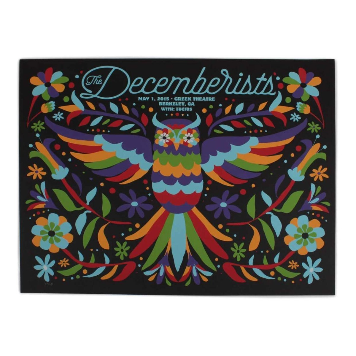 "The Decemberists at The Greek Theatre in Berkley 2015 Poster - 18"" x 24"""