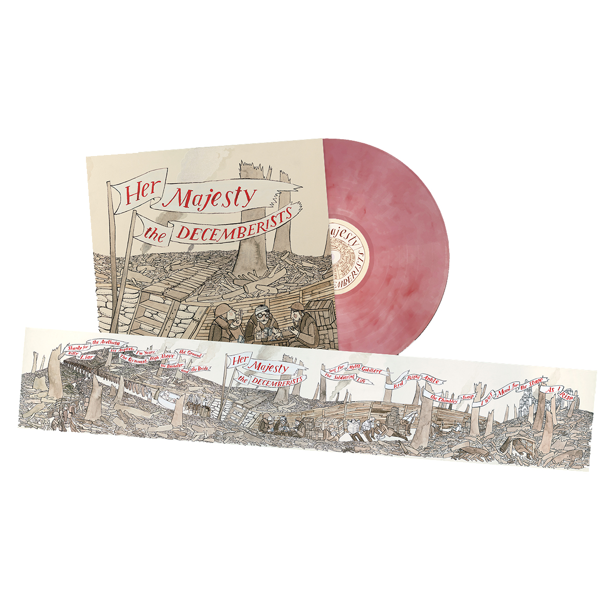 Her Majesty The Decemberists - Rose Marble Vinyl