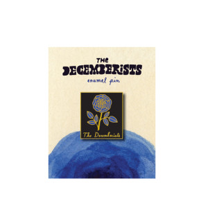 The Decemberists Flower Hard Enamel Pin