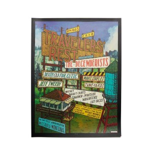 """The Decemberists 'Traveler's Rest' August 4th & 5th, 2018 Poster - 18"""" x 24"""""""
